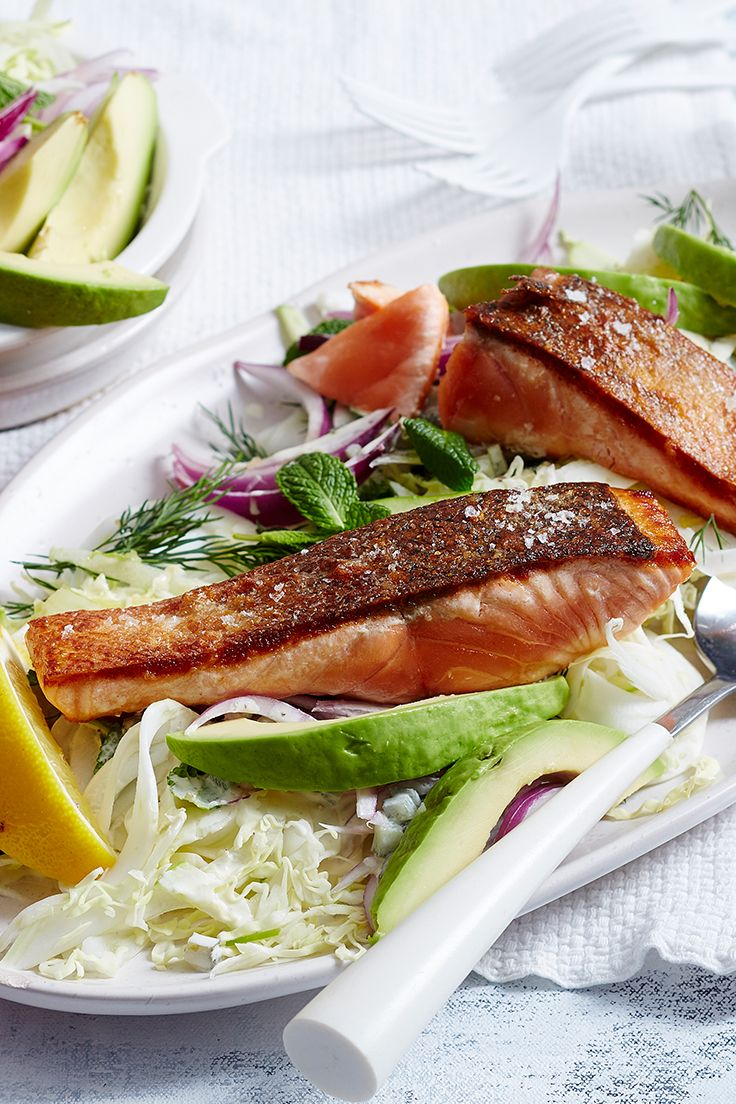 Is there anything more satisfying than the crunch of perfectly crispy skin salmon? We think not! It's easy to achieve, quick to cook and is so beautiful in this light spring dish with a fresh salad.