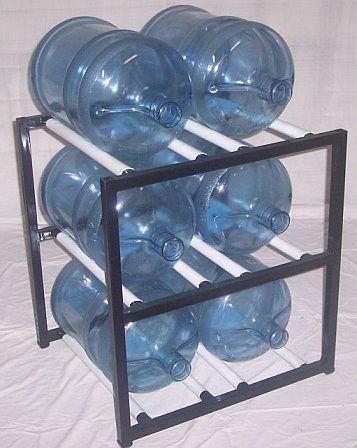 ShaCo Racks 5 Gallon Water Bottle Storage Rack with 6 Bottle Capacity