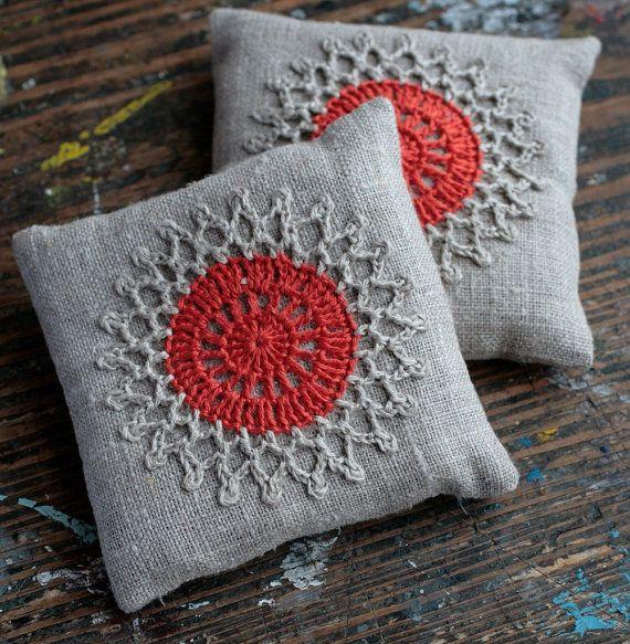 Saquinhos de alfazema crochet motivo conjunto de 2 por namolio no Etsy