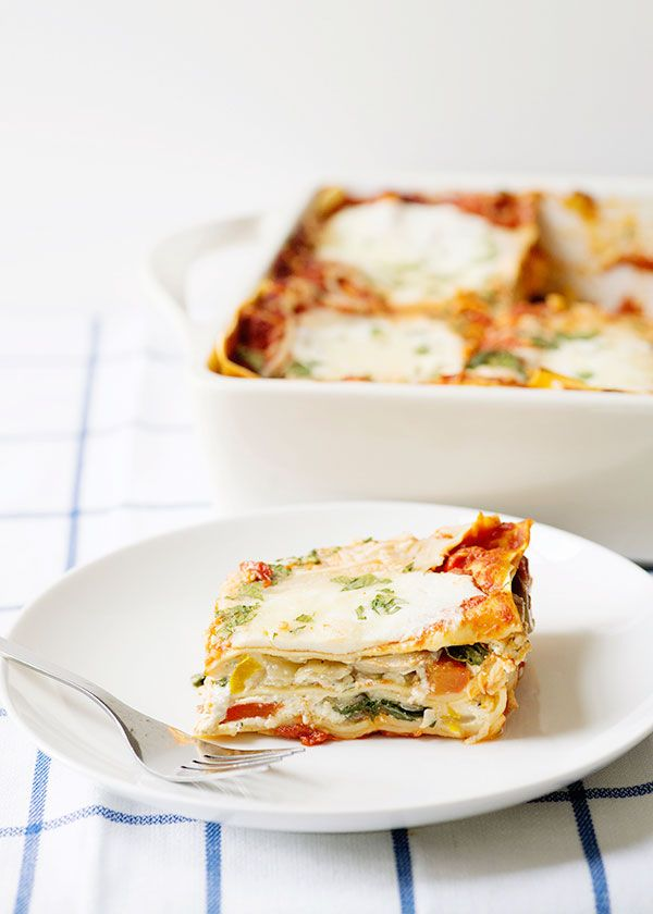 vegetarian lasagna- use homemade sauce!