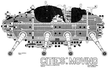 Archigram, an amazing avante-guard group of architects in the 1960's, came up with some amazing designs. Like a Walking City.
