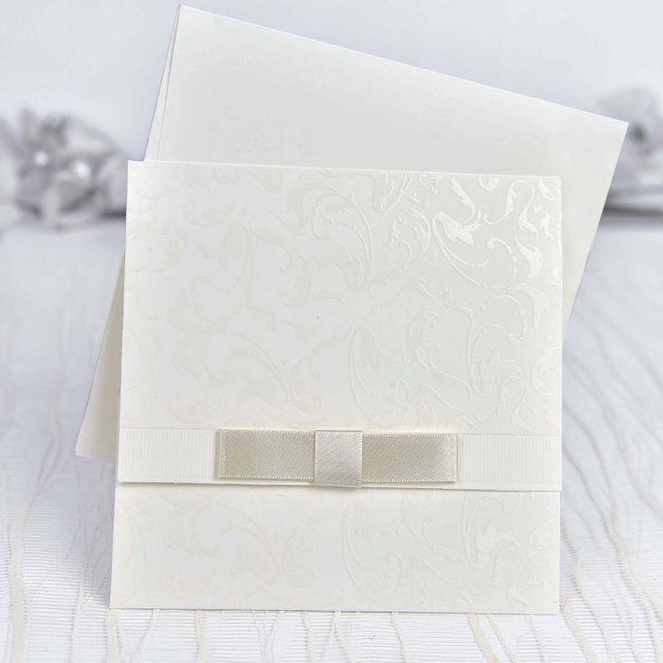 Invitación de boda sencilla y elegante