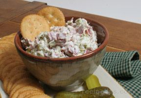 Pickle Wrap Dip (cream cheese, sour cream, onion powder, parsley, dill pickles, dried beef)