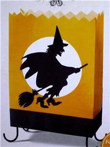 """Hallmark """"Hauntington"""" Cackling Flying Wicked Witch Luminary"""