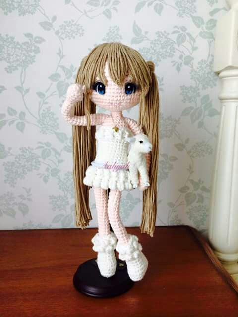 Amigurumi Doll Anime : Muneca Aaliyahs Amigurumi Crochet Dolls Pinterest ...