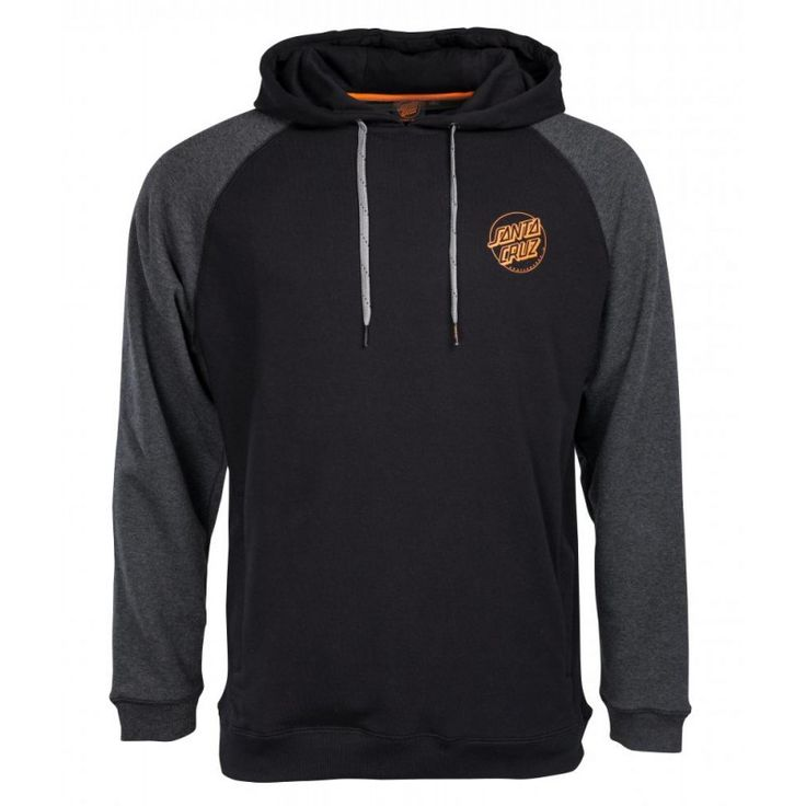 buy Santa Cruz SCS Simple Dot Hoodie Black/Carbon Melange at the Skateboard shop in The Hague, Netherlands
