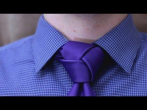 ▶ How to tie a tie - Trinity Knot - YouTube