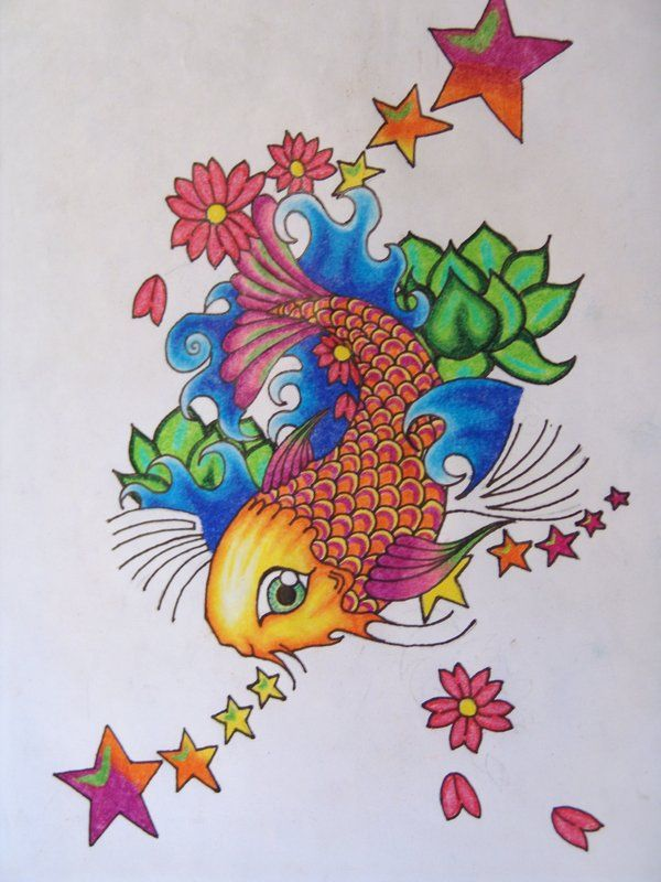 17 best images about koi fish tattoos on pinterest koi for Koi fish color meaning