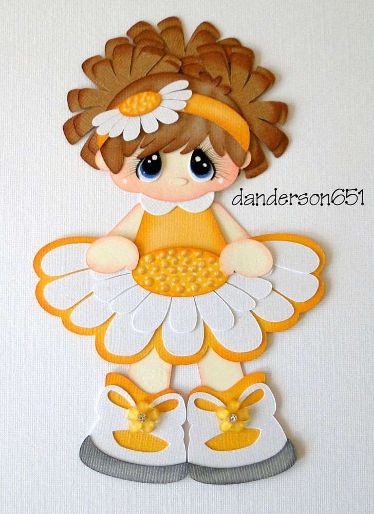 Daisy Girl PreMade Paper Piecing Embellishment 4 Albums Scrapbooks borders