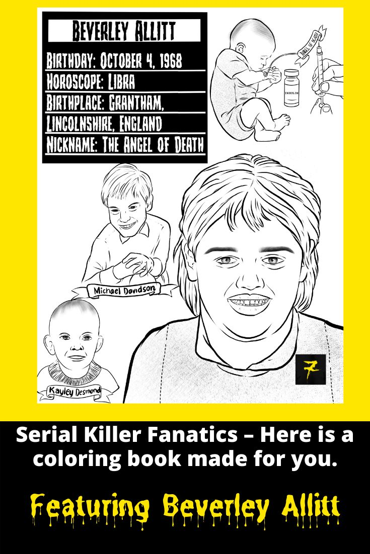 Pin on serial killer coloring pages