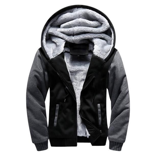f9709d5423657 European Fashion hooded Jacket Vintage Thick Fleece S-5XL