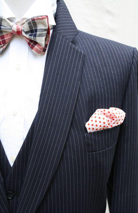 Mens Vintage 3 Piece Navy Pinstripe Suit by ViVifyVintage