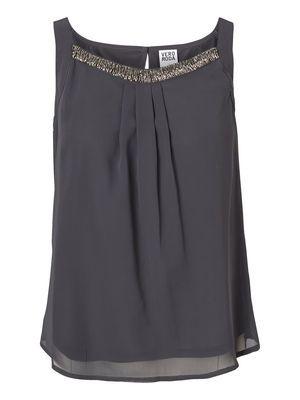 Loose Sleeveless blouse, Asphalt, main