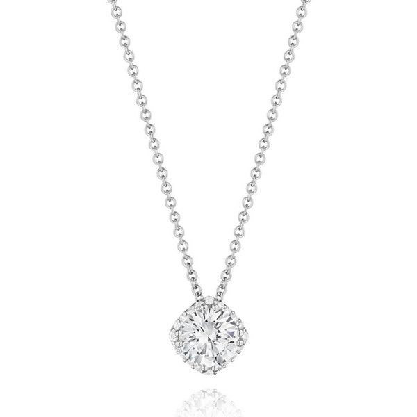 Tacori Encore 1/2 Carat Diamond Pendant (Center Diamond Not Included) (4 730 PLN) ❤ liked on Polyvore featuring jewelry, pendants, diamond flower pendant, tacori pendant, diamond necklace pendant, tacori jewelry and flower pendant necklaces