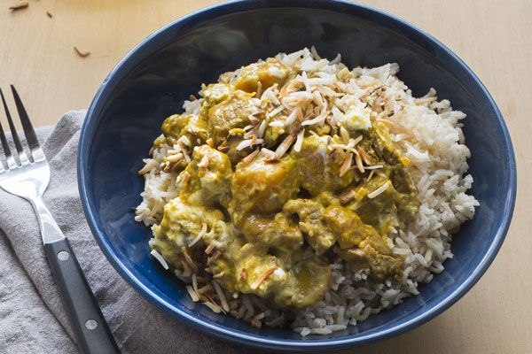 Lamb and pumpkin curry with spiced coconut