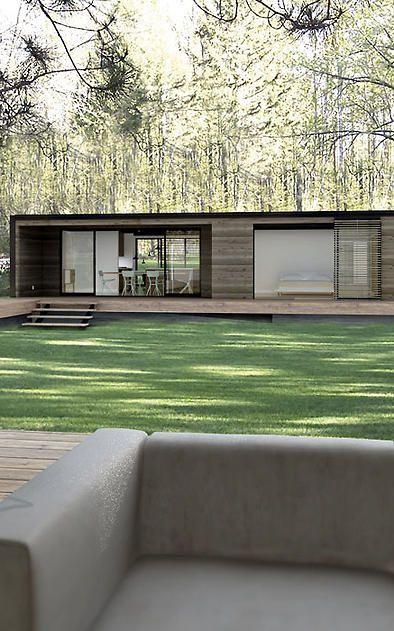 Una casa de arquitectura simple, minimalista, es mas que suficiente para una vida tranquila, con poco trabajo de asistencia.: