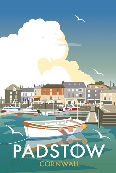 Padstow Quay Print at Whistlefish Galleries - handpicked contemporary & traditional art that is high quality & affordable. Available online & in store
