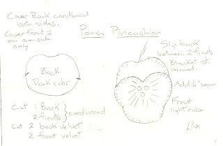 Just Lilla: Little pansy pincushion project