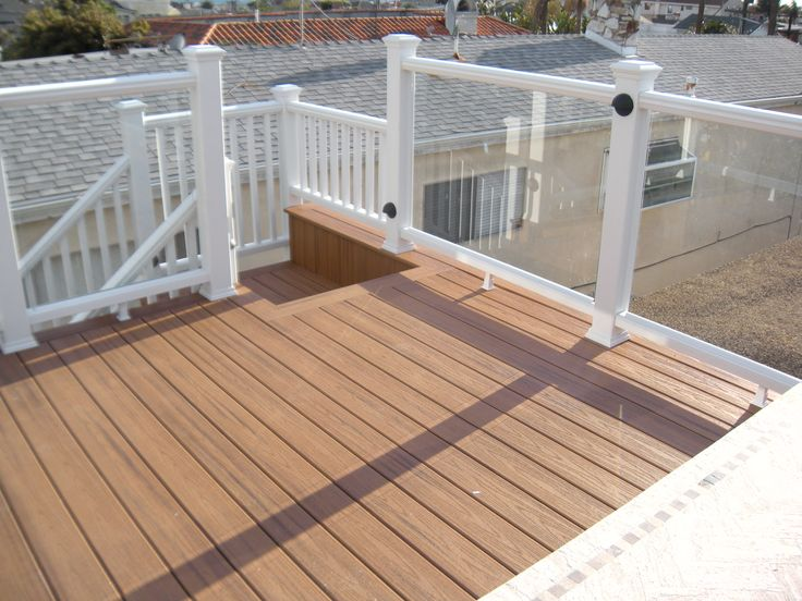 trex spiced rum deck with glass rail