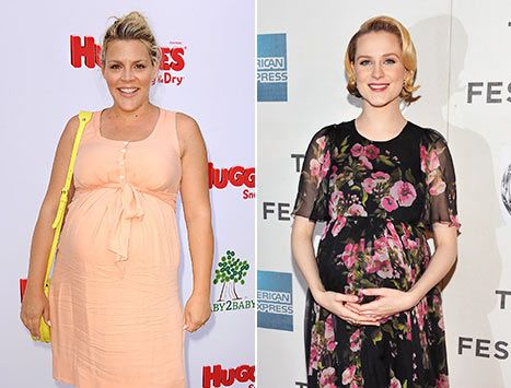 Busy Philipps and Evan Rachel Wood have one big thing in common - they're both pregnant! The costars found out on the very same day.