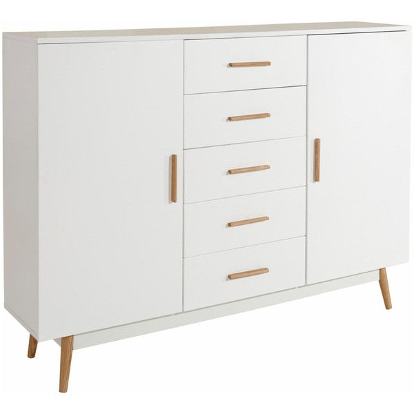 Scandinavian Lifestyle Texas Highboard ($490) ❤ liked on Polyvore featuring home, furniture, storage & shelves, white, white storage shelves, shelf furniture, tv storage cabinet, white shelving ve scandinavian furniture