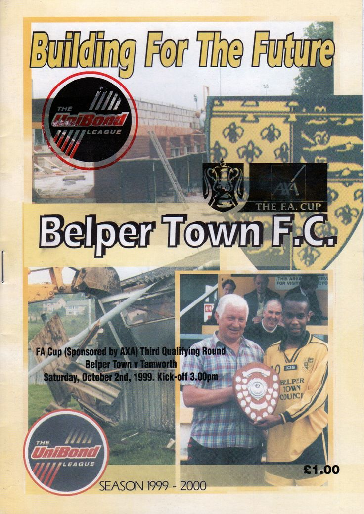 Belper Town Football Club in Belper, Derbyshire