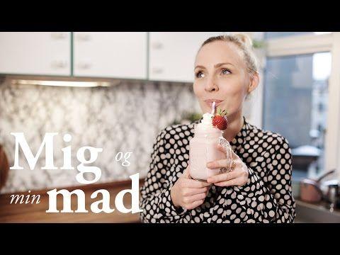 Jordbærmilkshake - Sød og frisk milkshake med vaniljeis og mælk