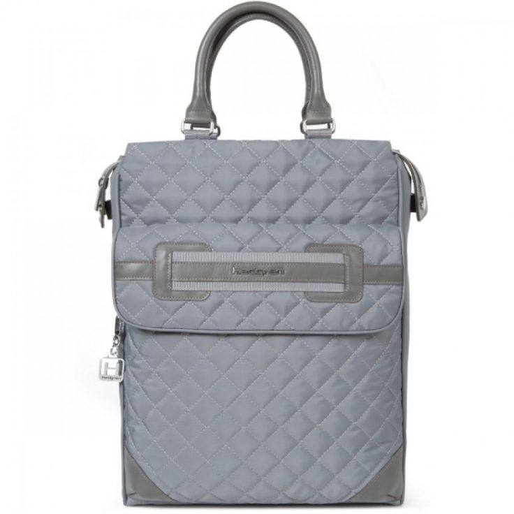Hedgren Kayla Convertible Backpack: Mouse Grey Stylish 2 way backpack with leather wrapped handles Comes with a two year warranty.