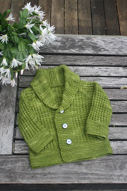 A textured grandpa cardi, with a shawl collar, for your vintage little buddy :)
