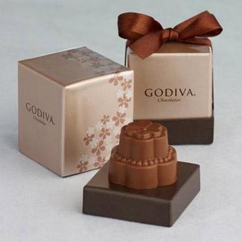 Godiva chocolate wedding favours