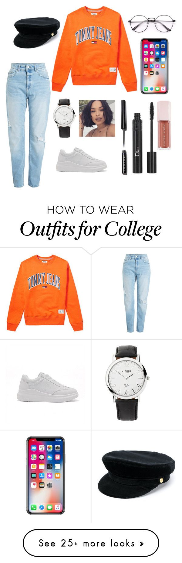 """"""""""" by ariya101 on Polyvore featuring Tommy Hilfiger, Manokhi, Links of London, Bobbi Brown Cosmetics, Christian Dior and Puma"""