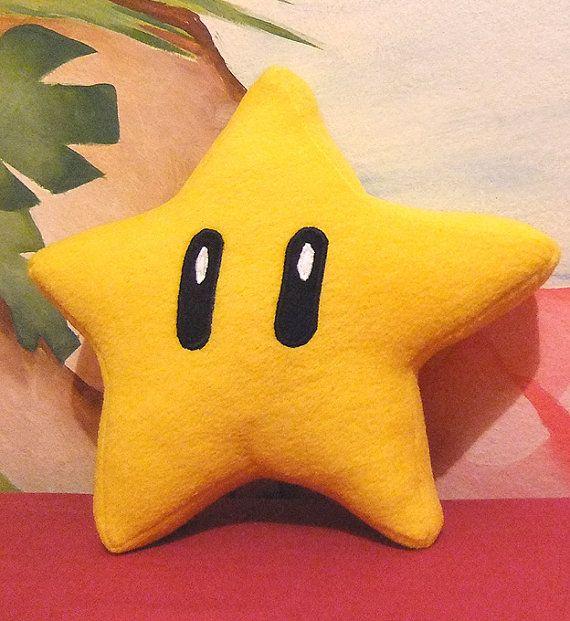 Mario Super Star Plush on Etsy, $20.25