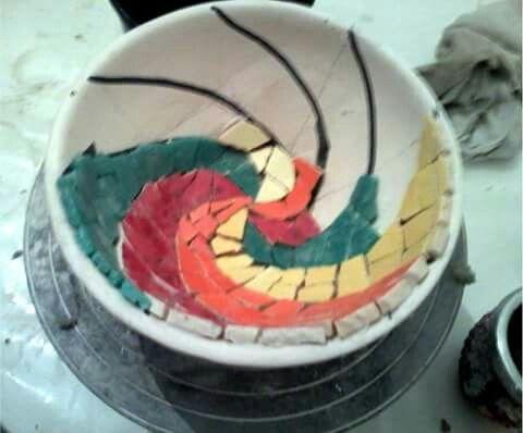 Mosaico, metodo directo sobre cerámica.