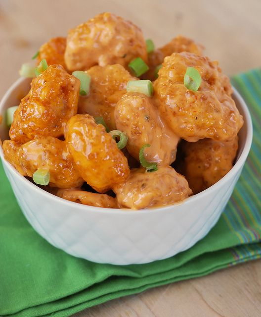 """Looks yummy and I love the recipe name: Bang Bang Shrimp. Unfortunately (or fortunately) any time I hear """"bang bang"""" I follow it with """"Maxwell's silver hammer"""" which...may not be the connotation you want for a delicious dish..."""