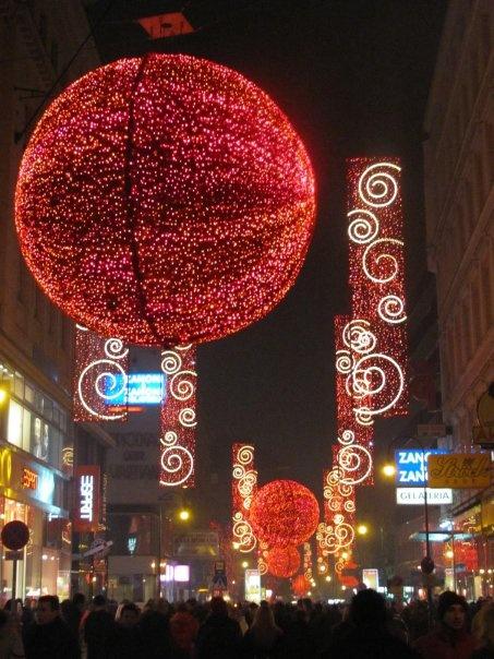 New Years Eve decoration in Vienna, Austria