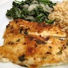 Parm Flounder. Broiled flounder with a delicious pamr mayo topping. Try other fish.