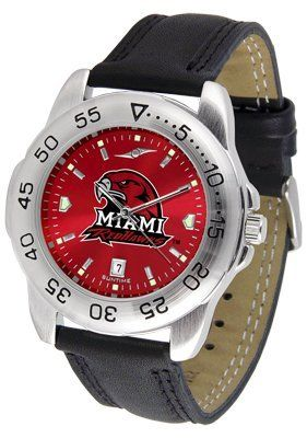 Miami University Of Ohio Redhawks Sport Leather Band Anochrome - Men's - Men's College Watches by Sports Memorabilia. $50.76. Makes a Great Gift!. Miami University Of Ohio Redhawks Sport Leather Band Anochrome - Men's