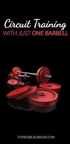 Here's a circuit training workout plan you can do with just one barbell and without having to change the weight on that barbell. This works extremely well!