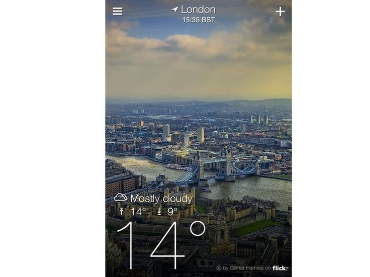 28 Best iPhone Apps.  I love Yahoo weather.