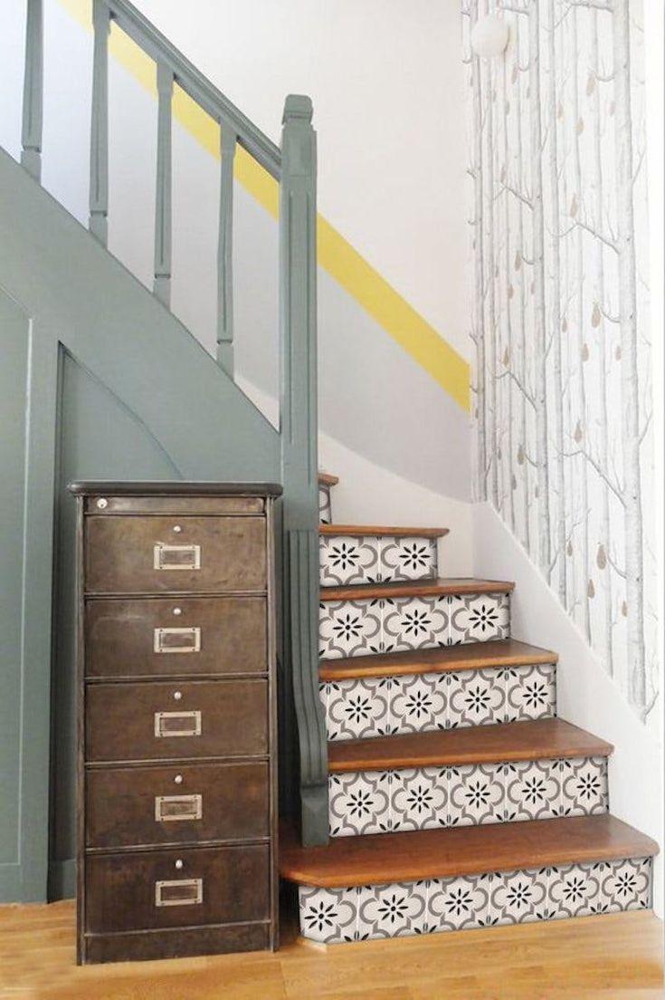 18 maneiras brilhantes de decorar suas escadas   – Loft Rebrand