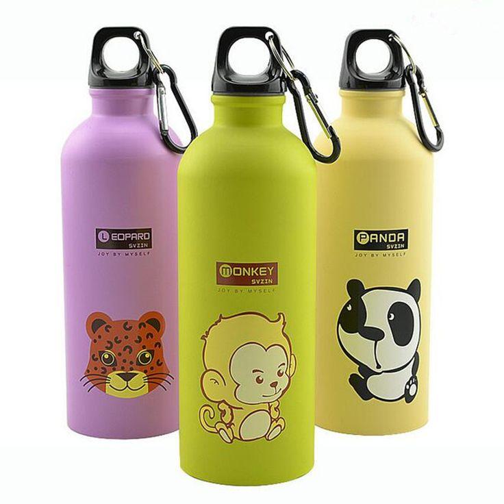 500 ML New Stainless Steel Water Bottle Lovely Cartoon Sports Bicycle Water Bottle Animal Pattern Drink Bottle