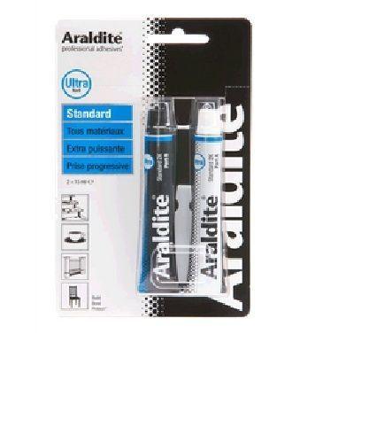 ARALDITE COLLE EPOXY TUBE STANDARD METAL BOIS CUIR PLASTIQUE MARBRE PORCELAINE