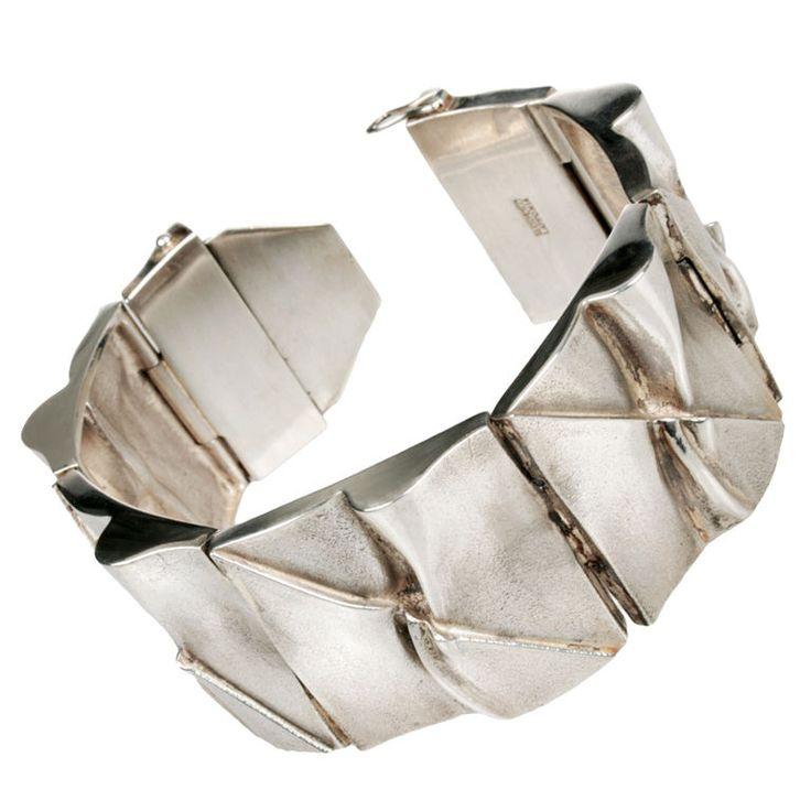 Björn Weckström for Lapponia Jewelry  ~Modernist Sterling Silver #Bracelet, 1977.   1stdibs.com