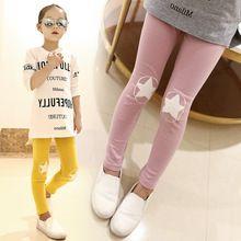 De alta calidad de algodón pantalones chicas dulces niños deportes pantalones casual chica Estrella bordado legging 4... 8 12 14 lápiz pantalones(China)