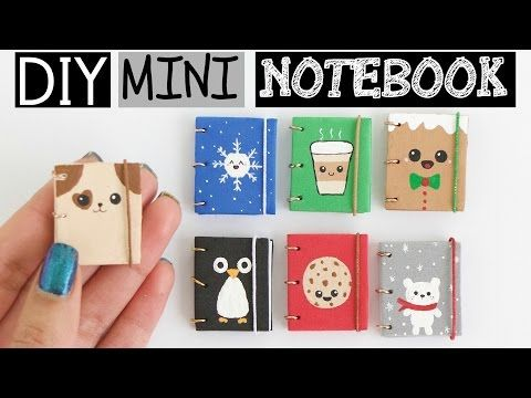 DIY MINI NOTEBOOKS PART 2 - Easy & Cute Designs! - YouTube