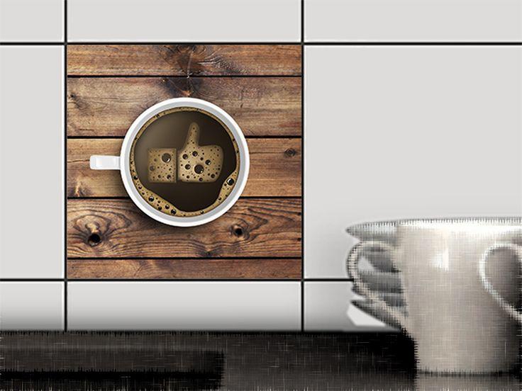 """""""Coffee""""+Fliesen-+und+Dekorfolie++für+Küche++von+creatisto+auf+DaWanda.com"""