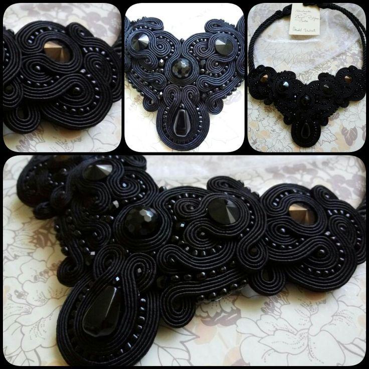 Soutache necklace #blackelegance