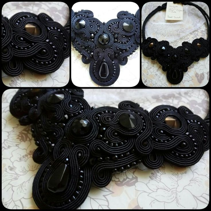 Soutache necklace #blackelegance