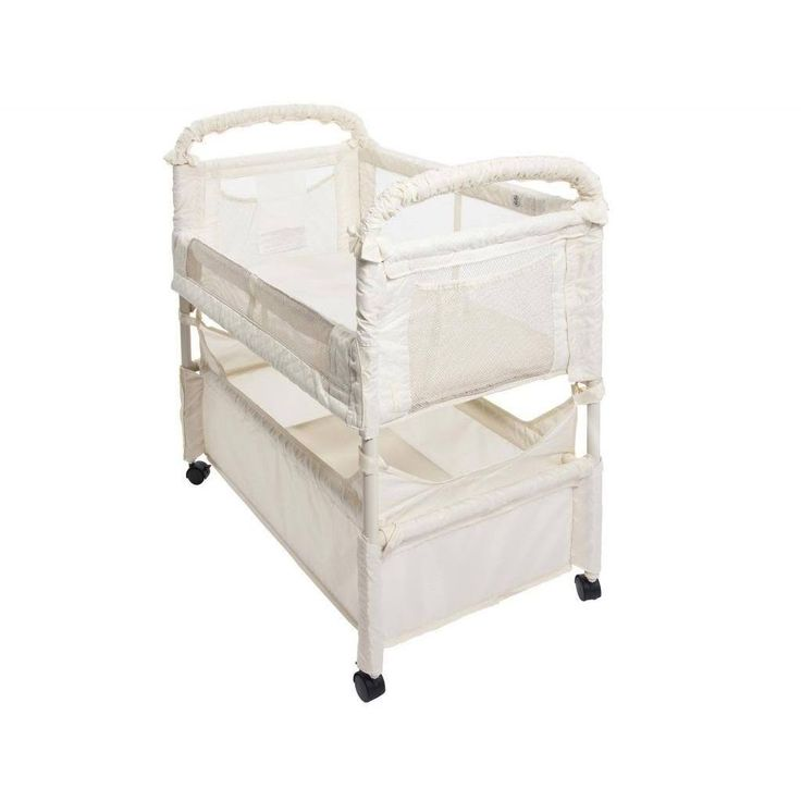 The Clear-Vue Co-Sleeper allows you and your baby to sleep comfortably next to each other from the moment your baby arrives. This bedside bassinet enables you to reach over and draw your baby close for comforting and bonding.