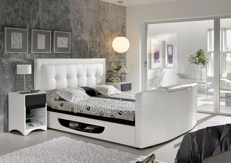 1000 ideas about tv beds on pinterest tv bed frame grey bedroom decor and grey bedrooms. Black Bedroom Furniture Sets. Home Design Ideas